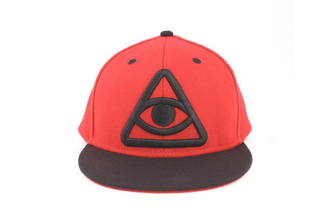 Third Eye Snapback Hat - Olive Green