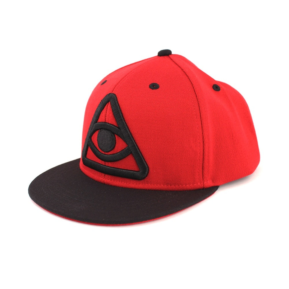 Hats - Third Eye Snapback Hat - Red/Black