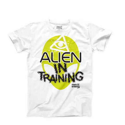 "Mini Enemy ""Alien In Training"" kids shirt"