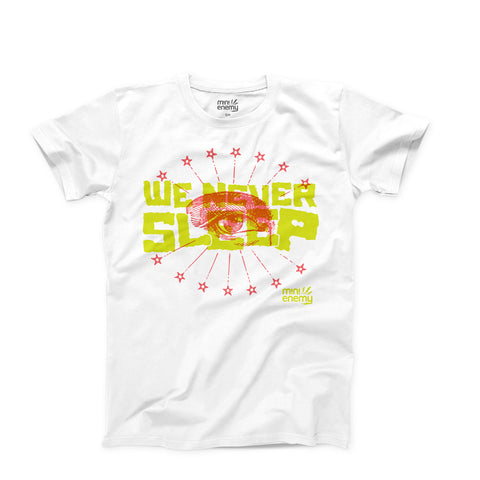 "Mini Enemy ""We Never Sleep"" kids shirt"