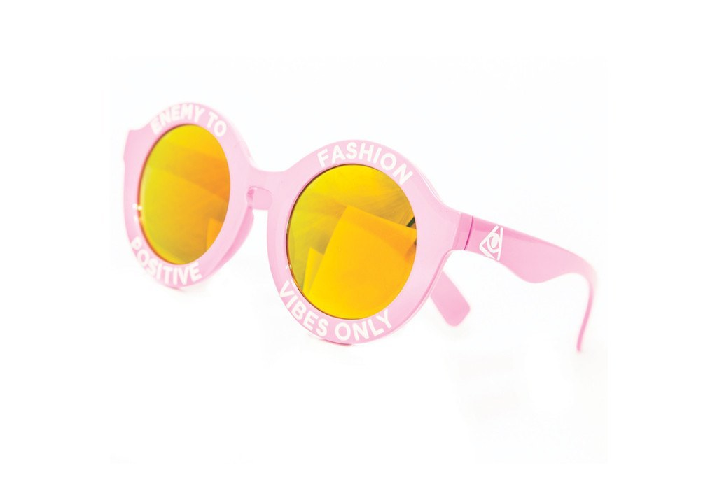 e54f5610571f Enemy To Fashion Pink Positive Vibes Only Glasses