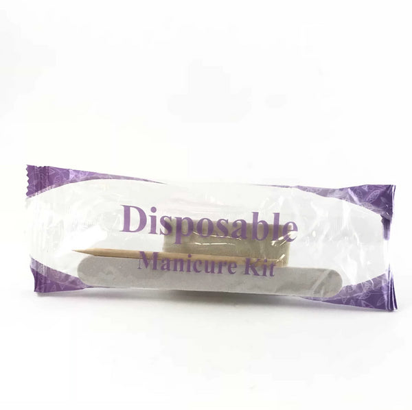 Disposable 3pc Mani Kit - Includes File, Buffer and Cuticle Stick. Individuals or Case of 200