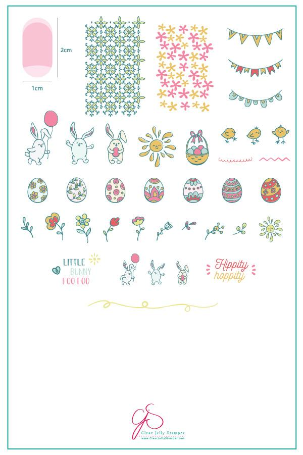 Bunny Foo Foo Clear Jelly Stamping Plate