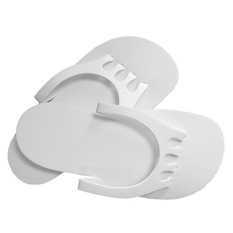Foam Spa Slippers with Non Skid Sole - White or Black