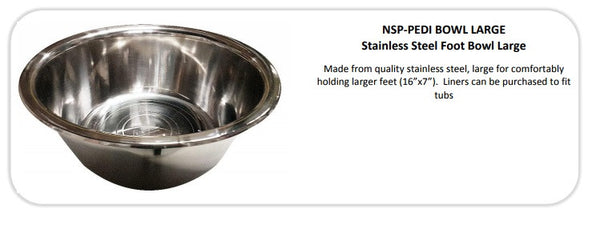 NASP Stainless Steel Foot Bowl Large