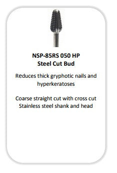 NASP 85RS 050 HP CUT BUD CC STAINLESS -FOR THICK NAIL REDUCTION