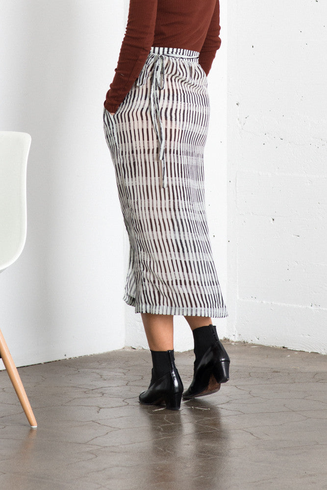 Lily Wrap Skirt - Zebra