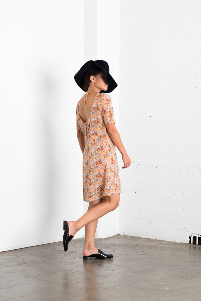 Lucia Dress - Taupe Floral