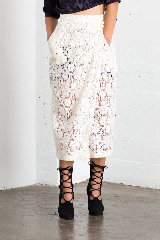 Lily Wrap Skirt - Ivory Lace