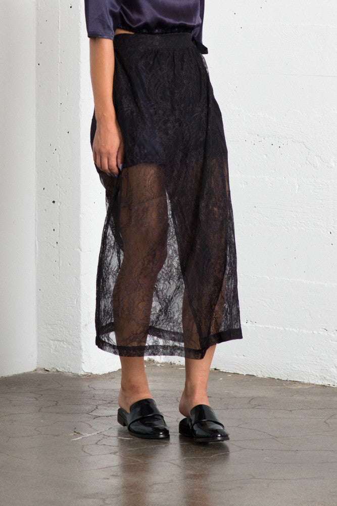 Lily Wrap Skirt - Black Lace