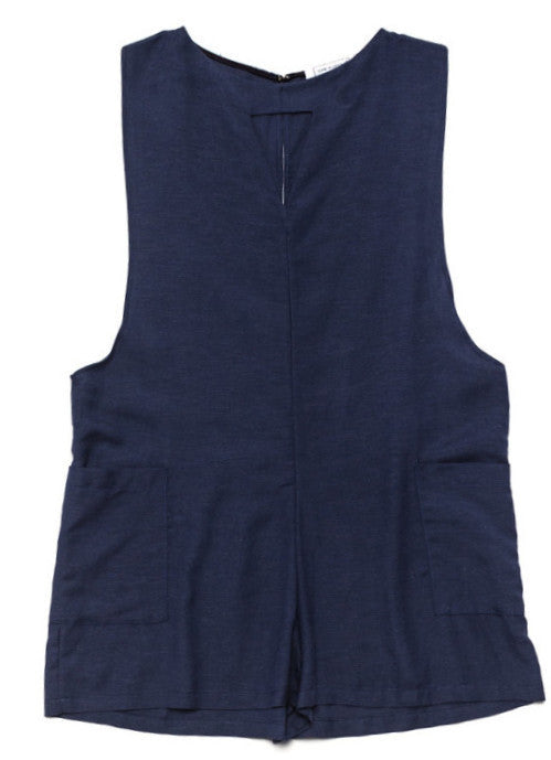 Ode to Jeune Daisy Women's Romper Chambray One-Piece