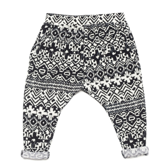 Ode to Jeune Bro Pant Boys Pant Girls Pant Navy Aztec