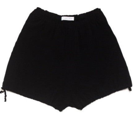 Ode to Jeune Women's Colette Bloomers Black Crepe Shorts