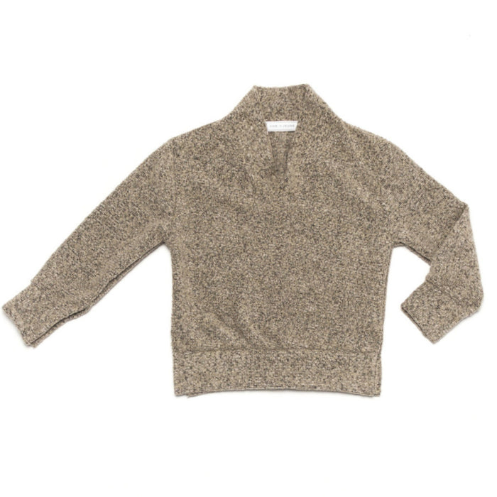 Ode to Jeune Baker Boys Sweater Shawl Collar Oatmeal