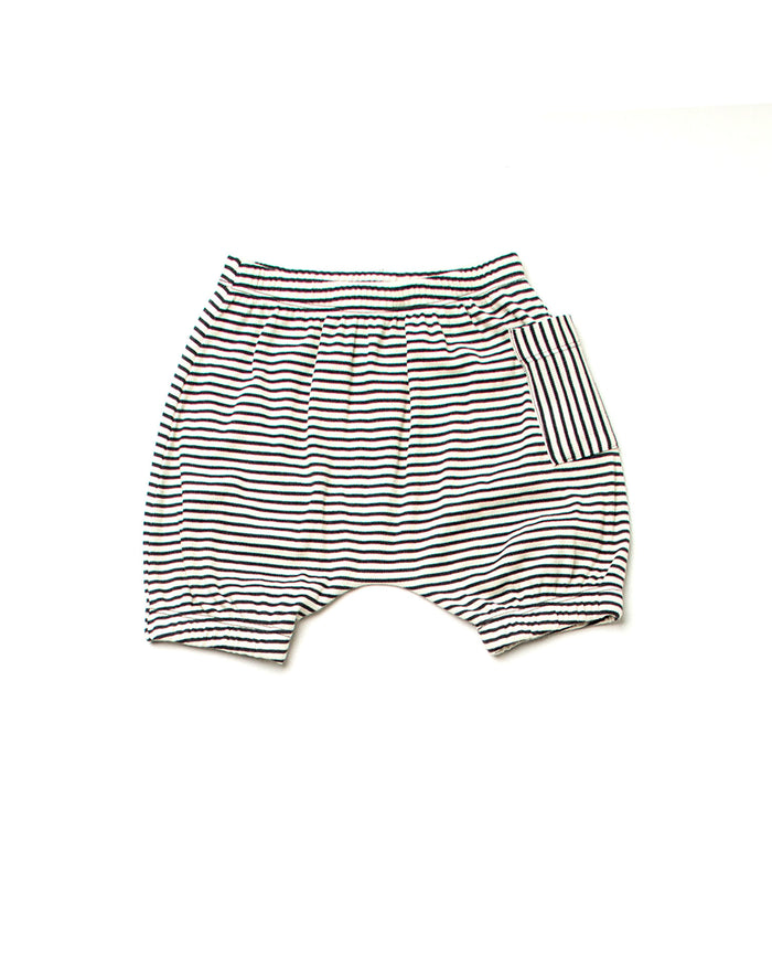 Pippa Shorts - Gray Stripes