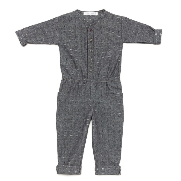 Ode to Jeune Harp Jumper Kids Jumpsuit Black Chambray