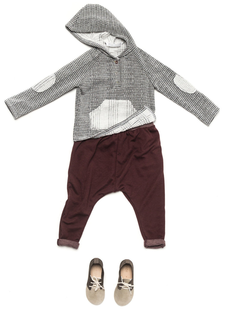 Ode to Jeune Rider Hoodie Hooded Sweatshirt Winter Reverse with Bro Pant Boys Pant Girls Pant Burgundy