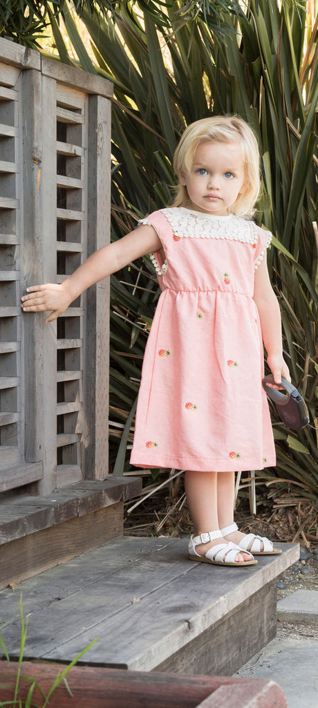 Serafina Dress - Pineapple Embroidery