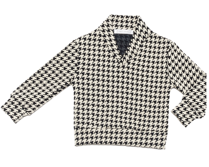 Baker Sweater - Houndstooth Ponte