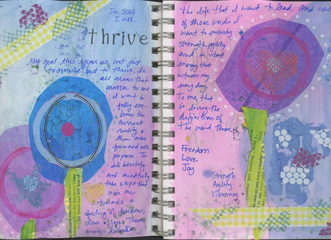 Thrive Art Journal Pages