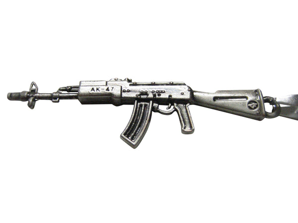 AK 47 Rifle V2 Pendant Chain Necklace