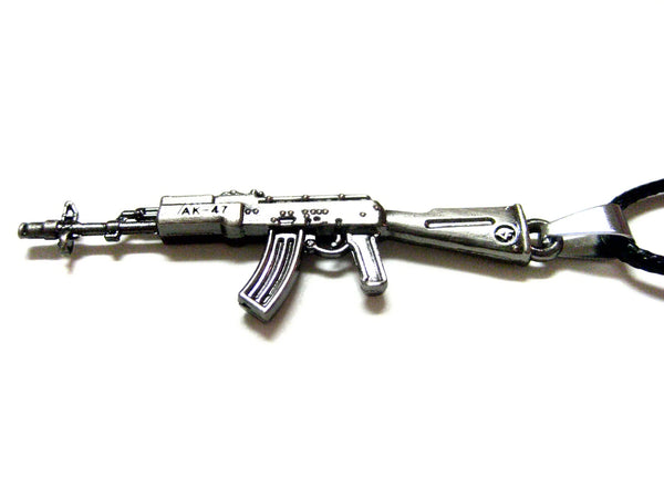AK 47 Rifle V2 Pendant Necklace