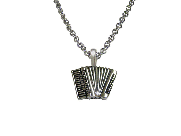 Accordian Music Instrument Pendant Necklace