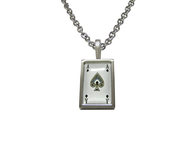 Ace of Spades Pendant Necklace