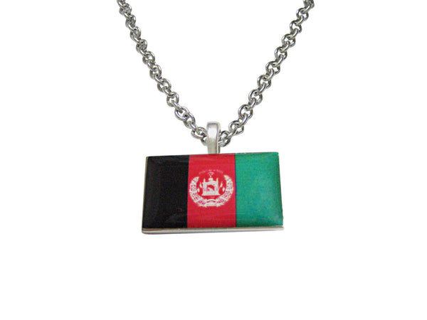 Afghanistan Flag Pendant Necklace