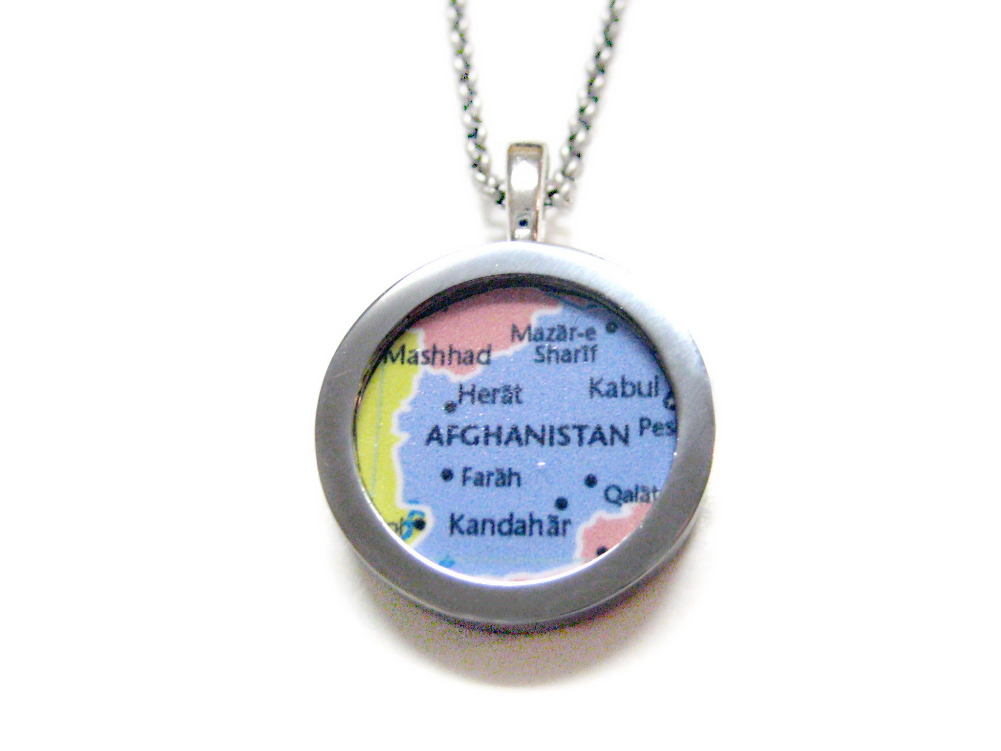 Afghanistan Map Pendant Necklace