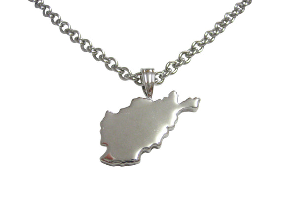 Afghanistan Map Shape Pendant Necklace