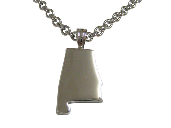 Alabama State Map Shape Pendant Necklace