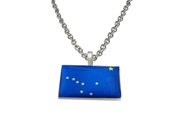Alaska State Flag Pendant Necklace