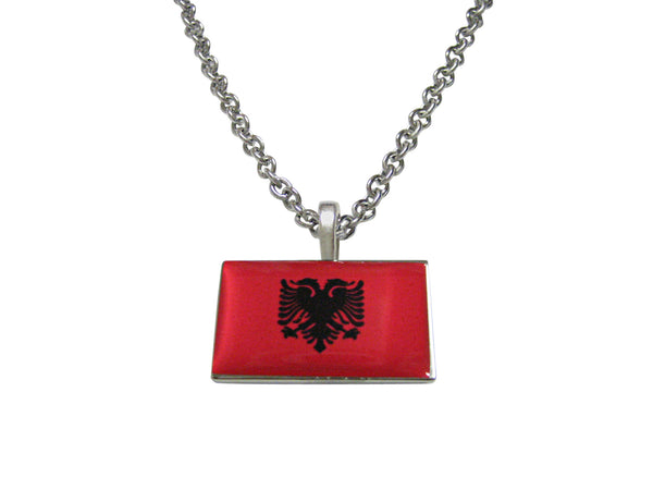 Albania Flag Pendant Necklace
