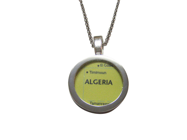 Algeria Map Pendant Necklace