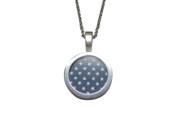 American Flag Stars Pendant Necklace