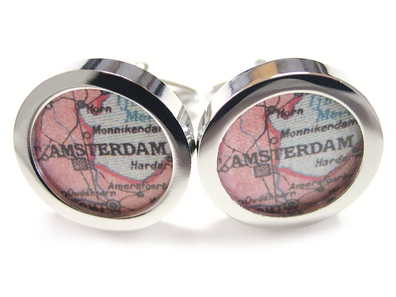 Amsterdam Map Cufflinks