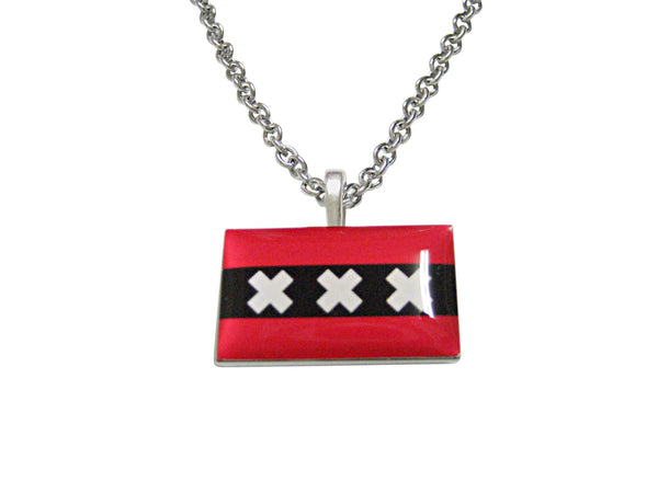Amsterdam Flag Pendant Necklace