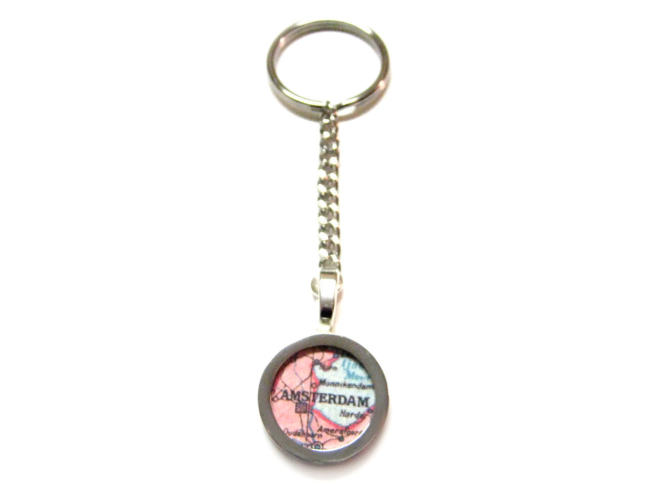 Amsterdam Map Key Chain