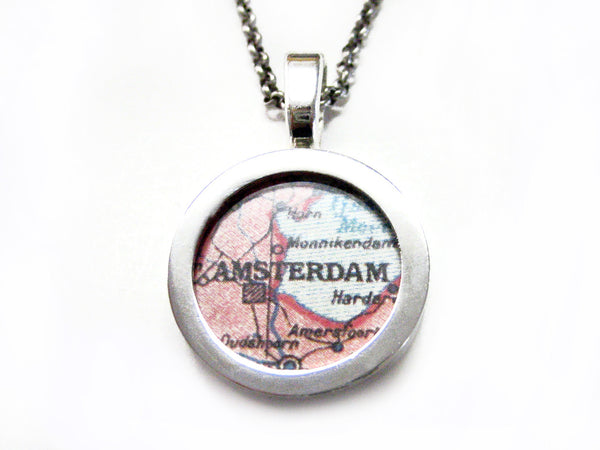 Amsterdam Map Pendant Necklace