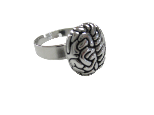 Anatomy Brain Pendant Ring