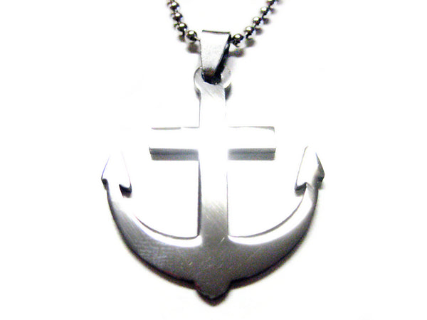 Anchor Metal Cut Out Necklace