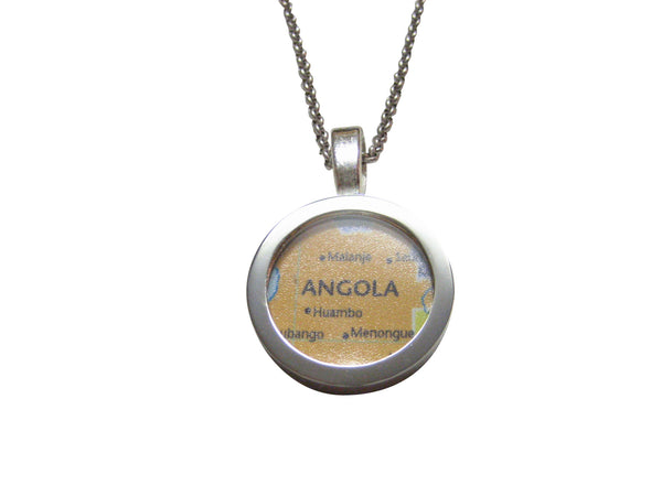 Angola Map Pendant Necklace
