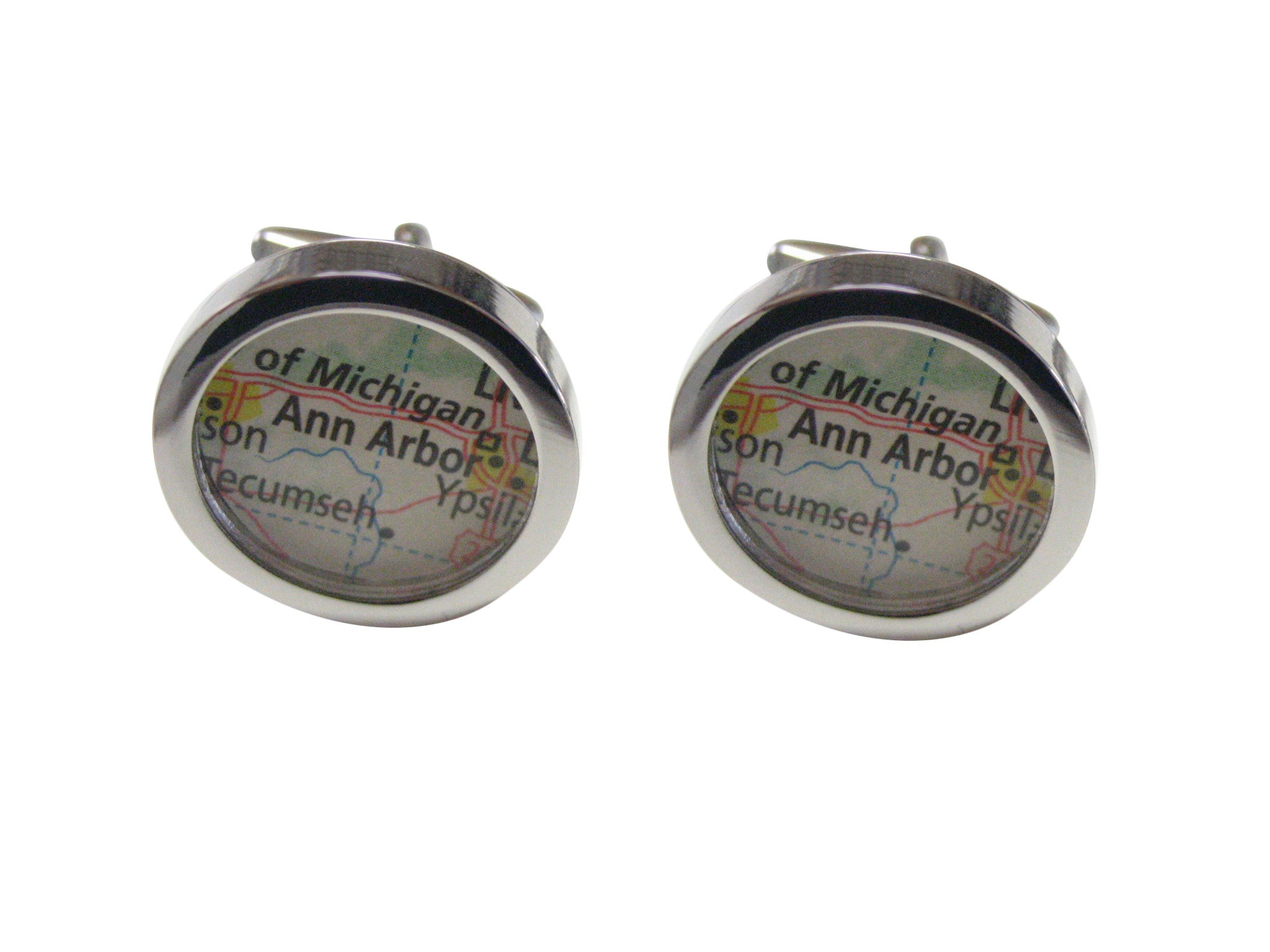 Ann Arbor Michigan Map Cufflinks