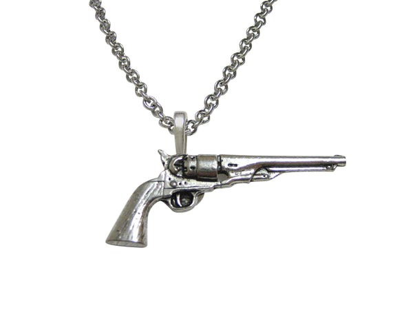 Antique Revolver Pistol Gun Necklace