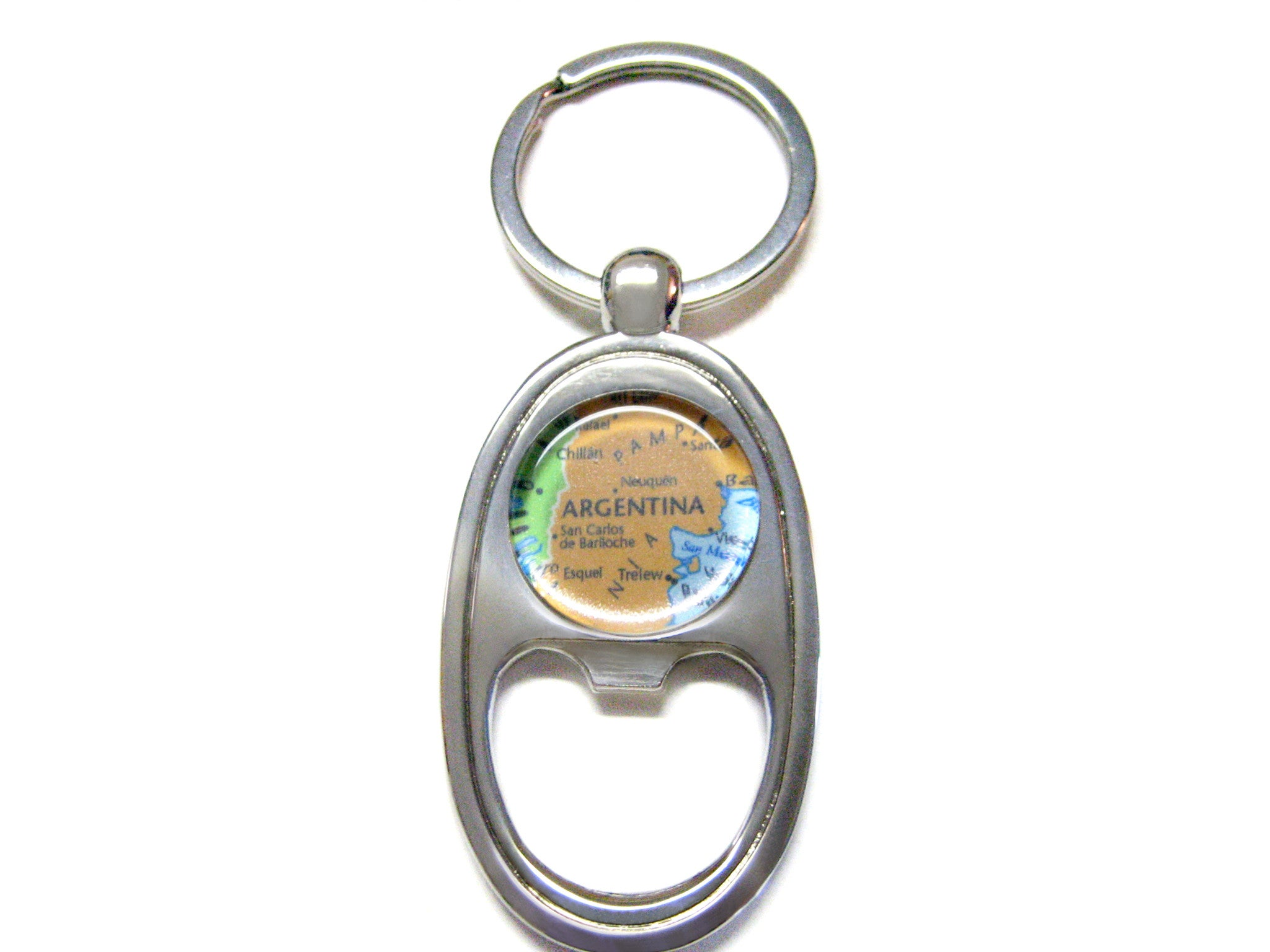 Argentina Map Bottle Opener Key Chain