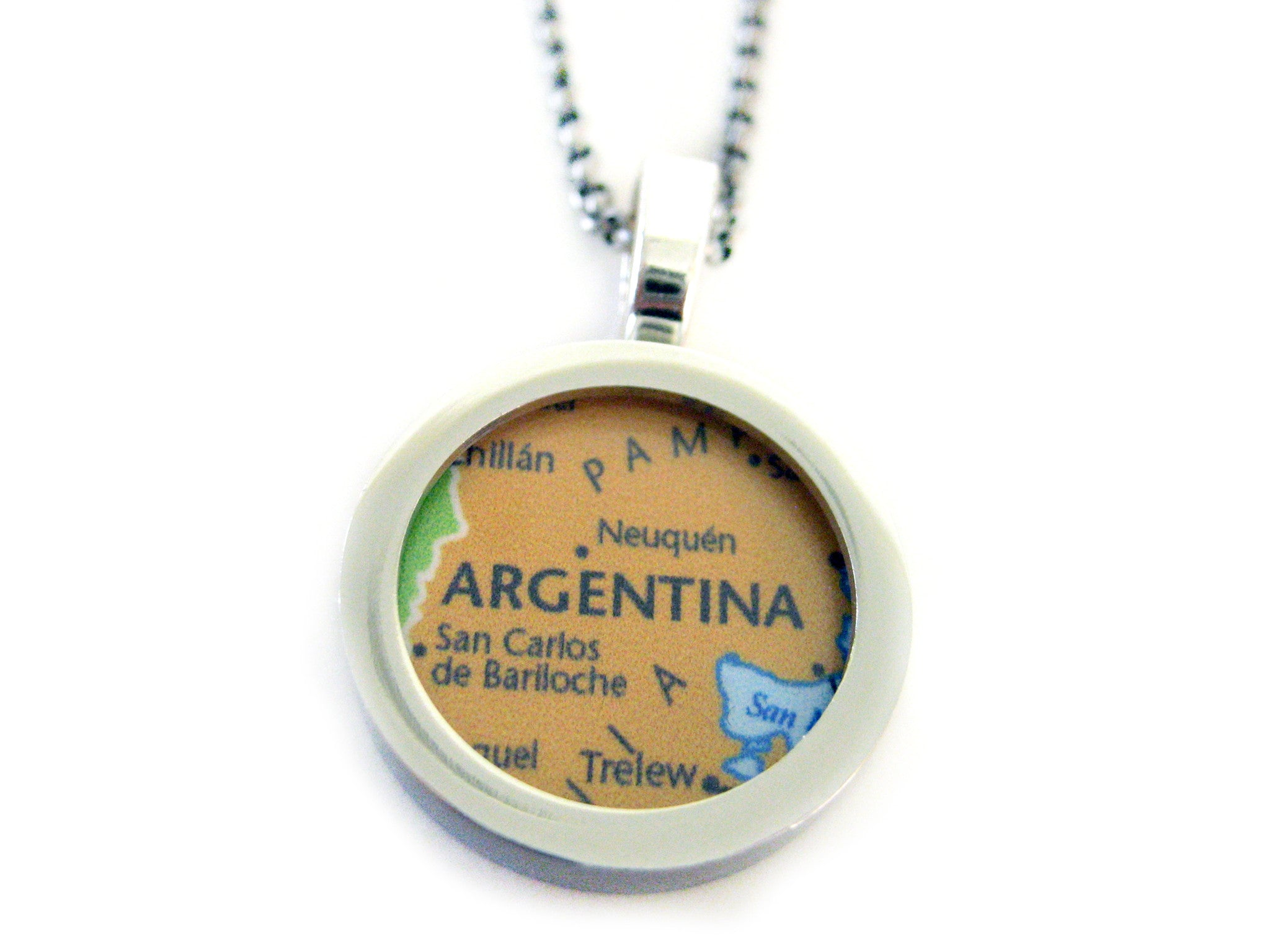 Argentina Map Pendant Necklace