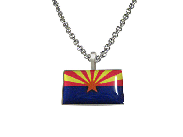 Arizona State Flag Pendant Necklace