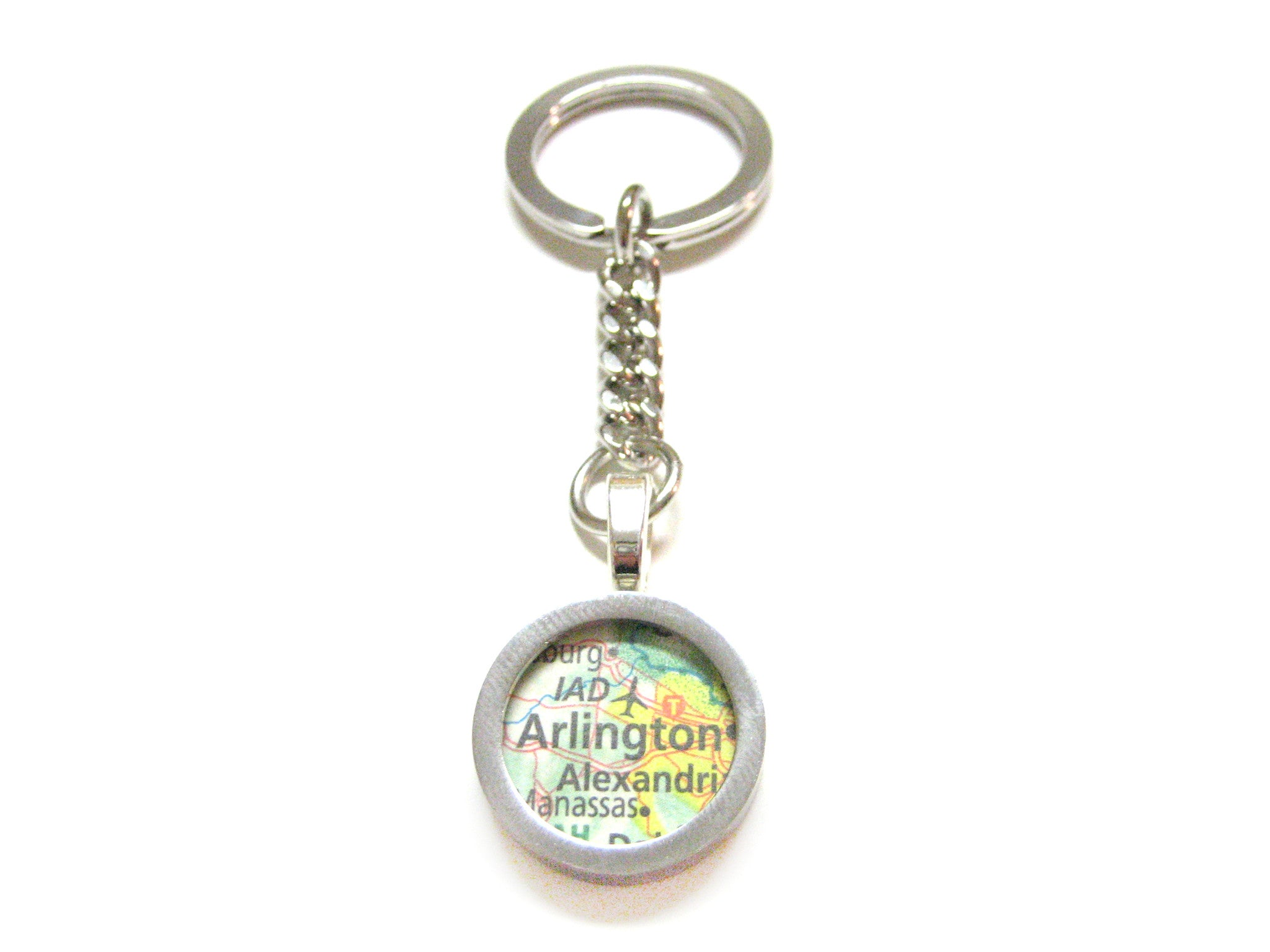 Arlington Virginia Map Keychain