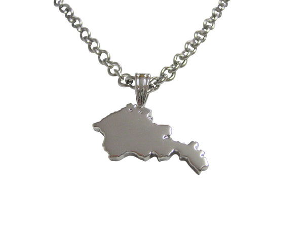 Armenia Map Shape Pendant Necklace